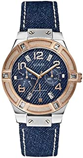 Guess Sport Watch for Women, Stainless Steel Case, Blue Dial, Analog -W0289L1