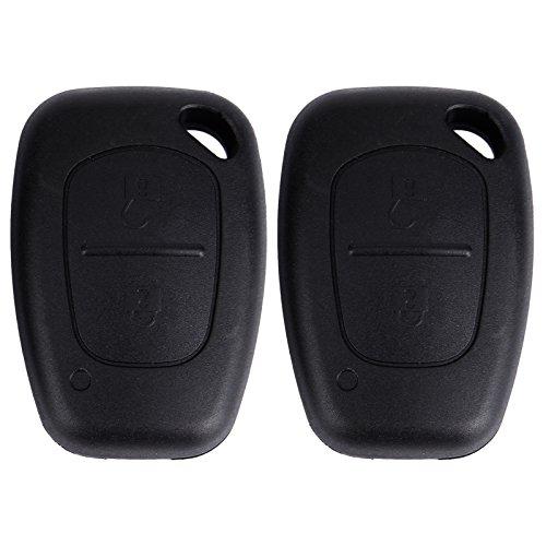 2X Coque 2 Bouton pour Cle Telecommande Renault TRAFIC Master Flip Key Case