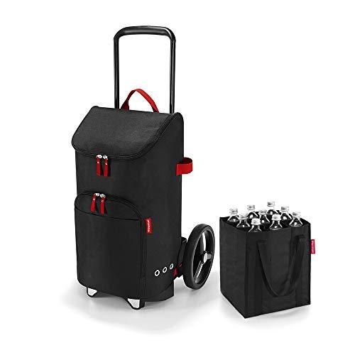 citycruiser Rack + Bag + bottlebag 3in1 Set, DEDFZJ Einkaufstrolley mit Flaschentasche, Black (7003)