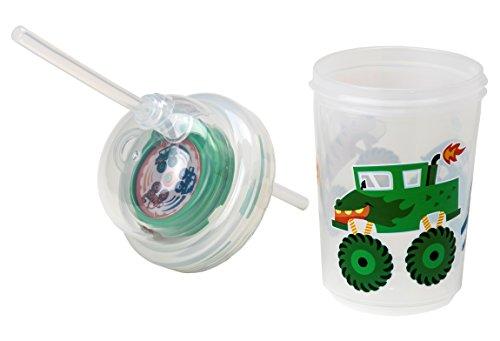 nuspin kids Sip & Spin Straw Cup + Bonus Zoomi Straw