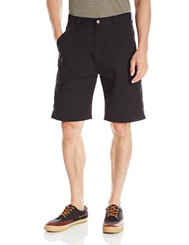 Wrangler Authentics Men s Classic Relaxed Fit Cargo Short, Black Twill, 36
