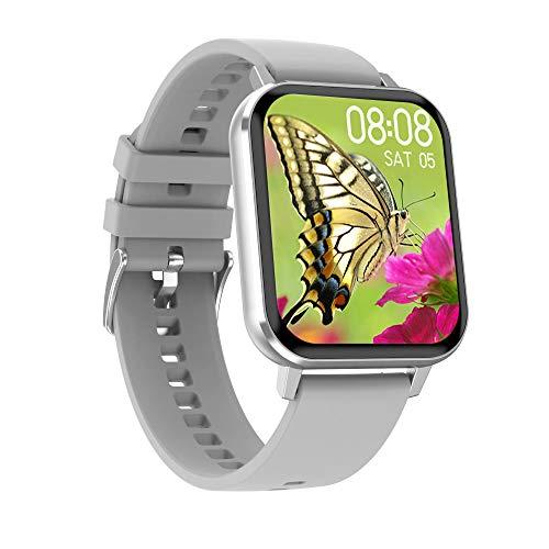 Relojes Inteligentes 1.78 en Pedómetro Deportivo Impermeable IP67 Recordatorio Sedentario Monitoreo de sueño NCALL SMS Reloj Despertador Ajuste de vibración-Pegamento Gris