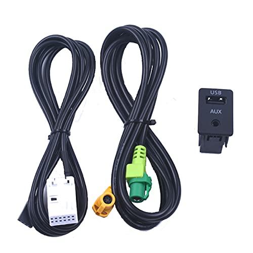 AutOcean Cable Adaptador inalámbrico USB de Interruptor Auxiliar para BMW 3 Series E87 5 E90 E91 E92 X5 X6