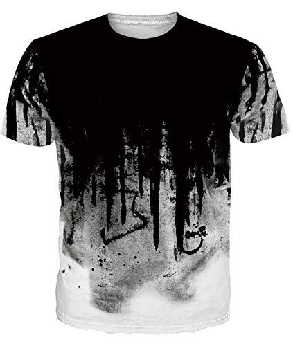 Fanient Herren Damen Aufdruck T-Shirt Rundhals Tee S M L XL XXL, Milch, XXL