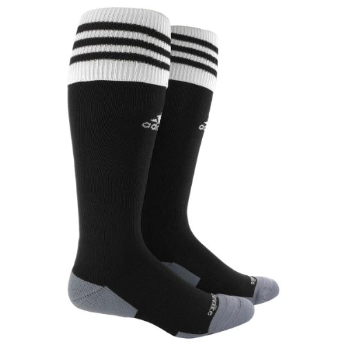 adidas Copa Zone Cushion II Soccer Socks (1-Pack), Black/White, Small