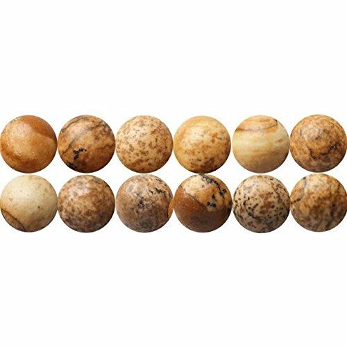 Natürliche Landschaftsjaspis Edelstein Perlen Runde 6mm Naturstein zum Auffädeln 38cm Strang Approx 60 Stück