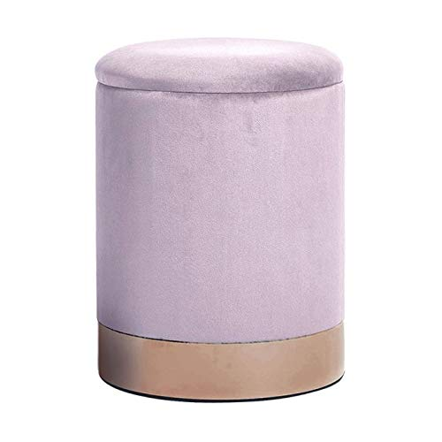 DMORA pouf, in elegante velluto color cipria, cm 31x38, UNICA