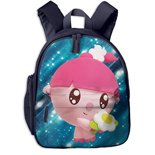 Hdadwy Baby-Riki Children's Animation Backpack/Baby Backpack/Kindergarten Toddler School Bag with Adjustable Cushion Belt Navy