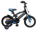 AMIGO BMX Fun 12 Zoll 21 cm Jungen Rücktrittbremse Schwarz/Blau