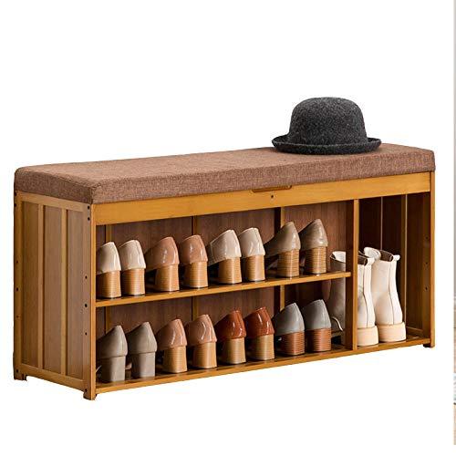 HENDA Taburete para Cambiar Zapatos de 3 Capas, Espacio de Almacenamiento Oculto, 4 especificaciones, Utilizado para Sala de Estar, Dormitorio, Entrada al Pasillo 48 * 30 * 100 cm