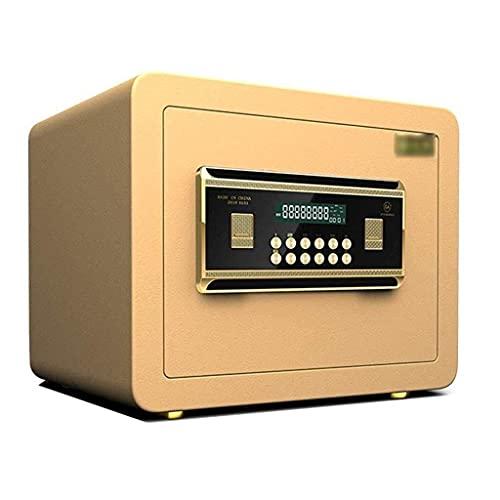 Caja fuerte ignífuga de acero para oficina, caja de seguridad antirrobo para archivos, en la pared o en el gabinete, caja de efectivo para dormitorio de hotel de 25-30 cm para documentos de identific