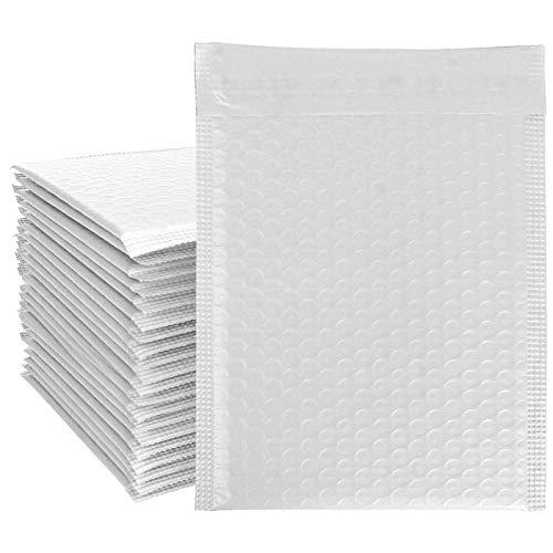 Lote de 80 sobres acolchados de 6 x 9 pulgadas por banda autoadhesiva, sobre de plástico resistente, fundas interiores de burbujas contra los golpes para envío postal de productos frágiles