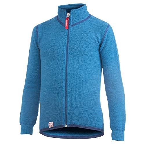 Woolpower Jungen Kid's Full Zip Jacket 400 Wolljacke Blau 86/92