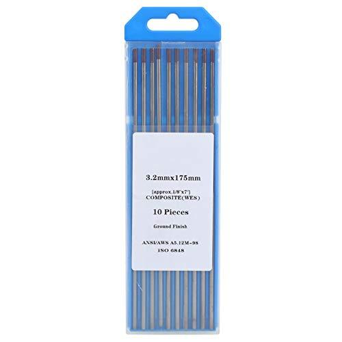 Electrodo de tungsteno de 10 piezas, equipo de soldadura TIG, consumible de soldadura de varilla de soldadura de punta de electrodo de tungsteno WES TIG (púrpura 0.13x6.9in)
