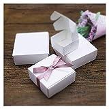 LOOEST Avanzado Caja 10pcs / Lot de la Vendimia Kraft Papel, cartón Caja de jabón Hecho a Mano, Artesanal Caja de Regalo de Papel Blanco, Embalaje joyero Negro Suministros de Fiesta de Navidad