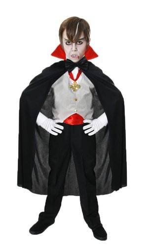 Boys Classic Dracula Vampire Fancy Dress Costume Perfect for dressing up for Halloween. Comes in size large. (disfraz)