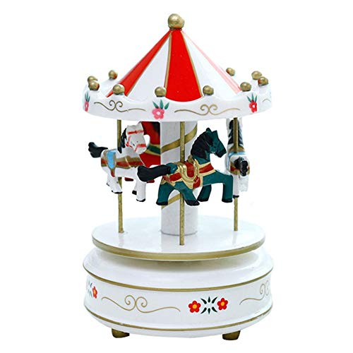 Muziekdoos Romantisch Carousel Horse Music Box Artistieke Houten Carousel Music Boxes TONGDAUR (Color : Color 11, Size : Free)