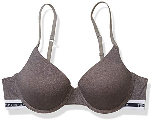 Tommy Hilfiger Women's Basic Comfort Push Up Convertible Underwire Bra, Grey Heather, 38C