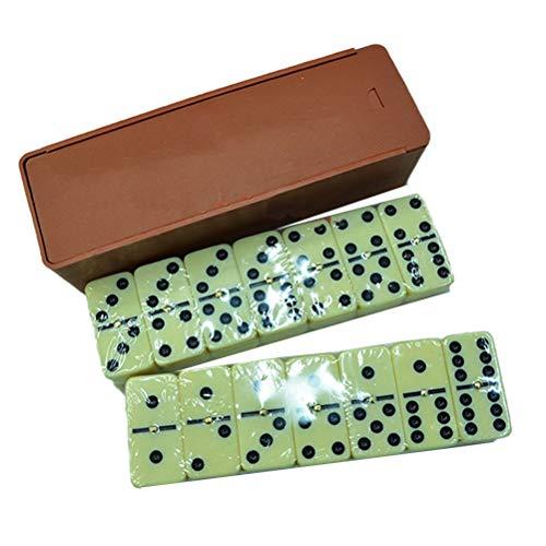 Set de Domino estándar con 28 baldosas double con pin central y estuche de madera.