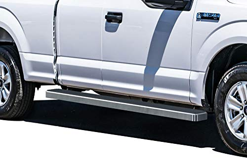 APS iBoard Running Boards 5 inches Compatible with Ford F150 2015-2020 Super Cab & F-250 F-350 Super Duty 2017-2020 (Nerf Bars Side Steps Side Bars)