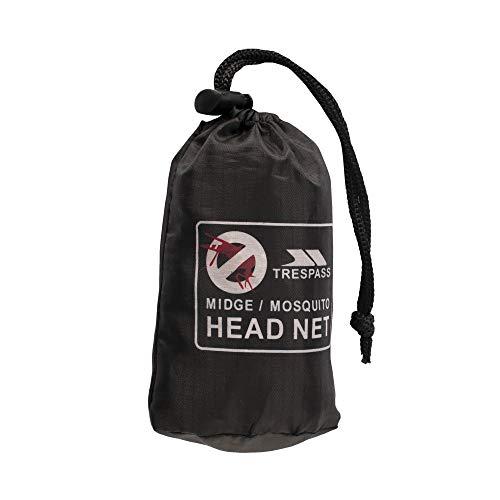 Trespass Midge Head Net, Black, Ultrafeines Moskitonetz, Schwarz