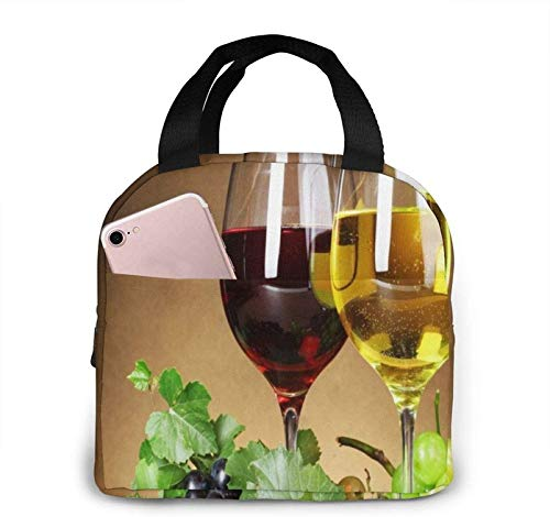 Grape Wine Lunch Bags for Women Insulated Lunch Bag Tote Bag Food Cooler Box Adult Men Women