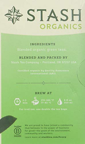 Stash Tea Company Premium Green Organic...