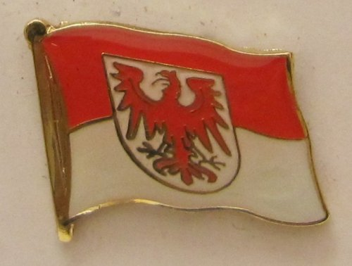 Pin Anstecker Flagge Fahne Brandenburg Landesflagge Flaggenpin Badge Button Flaggen Clip Anstecknadel