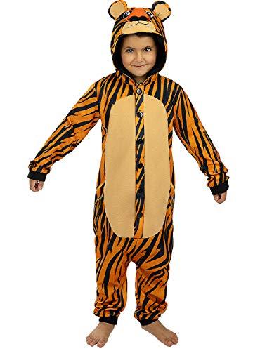 Funidelia   Disfraz de Tigre Onesie para niño y niña Talla 7-9 años ▶ Animales, Desierto, Selva - Multicolor