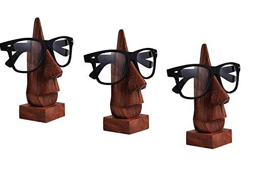 Satz von 3 Holz Brillenhalter, Brillenhalter, Eyeware Halter Halter, Sonnenbrille stehen, Brille Inhaber perfekt für Familie