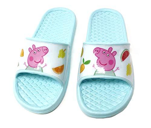 Peppa Pig - Badelatschen Sommer Hausschuhe Kinder Pantoletten Duschschuhe Badeschuhe rutschfeste Sandalen Pantoffeln Schlappen Slide Slippers Schuhe BL (Numeric_24)