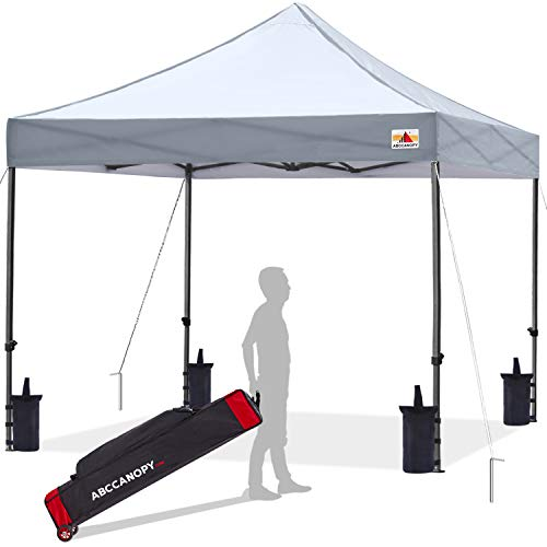 ABCCANOPY 3x3m Pop Up Gazebo Commercial Version Shelter Instant Shade And Block Rain, Bonus Upgraded Roller Bag, 4 Weight Bags, Stakes and Ropes