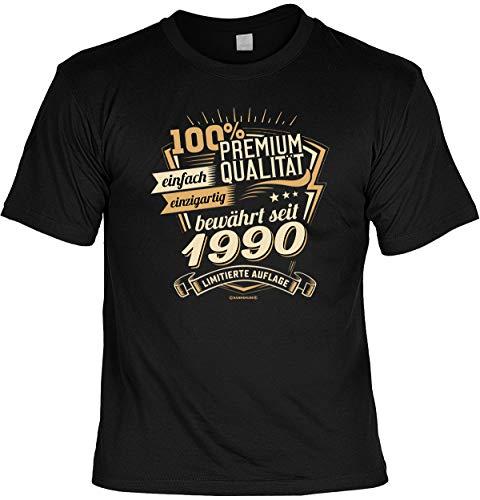 Cooles T-Shirt zum 30. Geburtstag T-Shirt mit Urkunde 1990 Limitierte Auflage Geschenk zum 30 Geburtstag 30 Jahre Geburtstagsgeschenk 30-jähriger