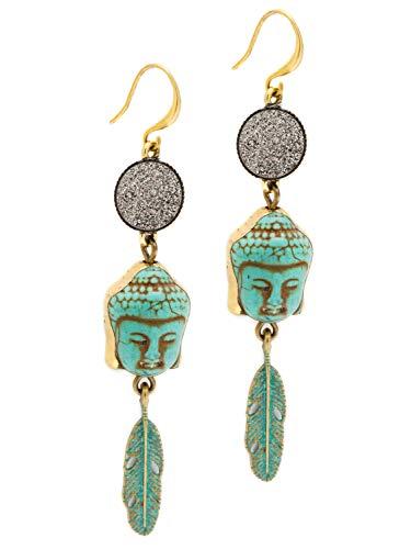 Turquoise Buddha Earrings