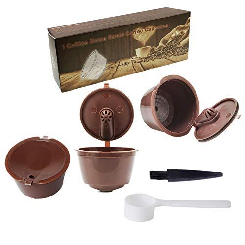 JZK 3 x Filtros cápsulas de café Reutilizable para cafetera Dolce Gusto capsulas rellenables de café de máquina filtros para café molido
