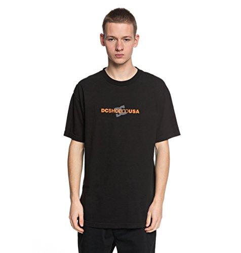 DC Shoes Round Reflect - T-Shirt - T Shirt Col Rond - Homme - M - Noir
