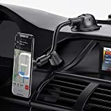 Mpow Magnetic Car Phone Mount, Dashboard Windshield Car Phone Holder, Car Mount with Strong Suction Cup, Flexible Gooseneck, Compatible iPhone 11 Pro XS Max XS XR X 8 7, Galaxy Note 10 S10 S9