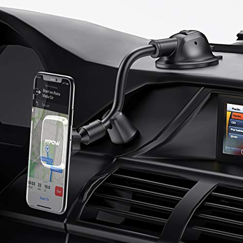Magnetic Handyhalter fürs Auto Mpow Handyhalterung Auto,Magneticshe Autohalterung mit starkem Saugnapf, flexibler Schwanenhals,2 in 1 Handy Halter für Auto für iPhone11Pro/XS,Galaxy10/9,HTC,Google,usw