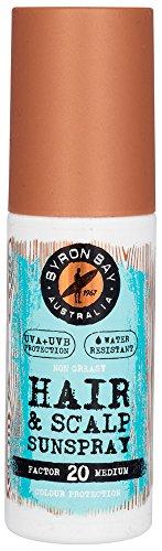 UV Schutz Haare & Kopfhaut LFS 20 Spray von BYRON BAY | 100ml UV Schutz für die Haare | Kopfhaut Sonnenschutz & Sonnenschutz Haare Spray in einem