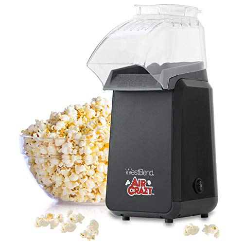 %33 OFF! West Bend 82418BK Crazy Popper Pops Popcorn Using Hot Air, 4-Quart, Black