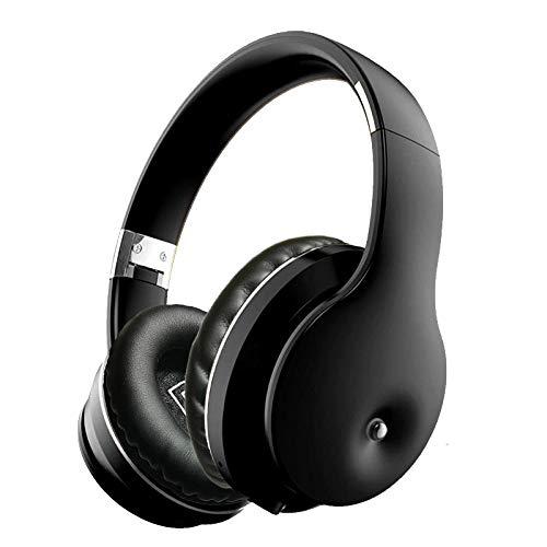 SFBBBO Headset Drahtlose Bluetooth 5.0-Kopfhörer über dem Ohr Kopfhörer im Graffiti-Design mit Mikrofon-HiFi-Stereoanlage für Telefon-PC Laptop Blacksilver