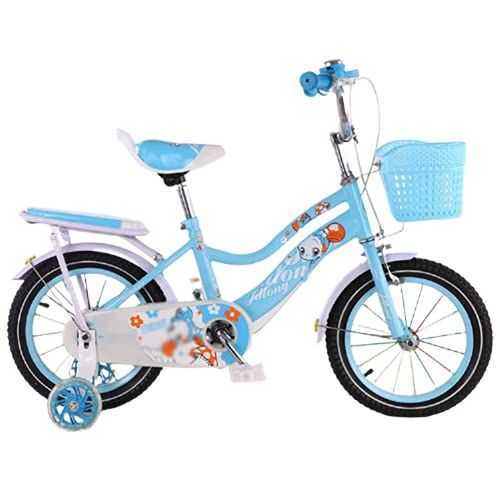 LFFME Bicicleta para Niños Bicicleta Ultraligera De 14-18 Pulgadas, Bicicleta para Niños De 4-12 Años con Ruedas De Entrenamiento Y Asiento Trasero,B,16