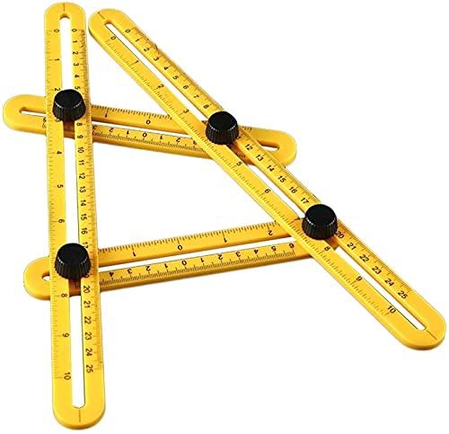 Regla de cuatro plegables móviles, regla plegable de cuatro laterales, regla de multifunción, transformación de polígonos, posicionamiento de reglas de azulejos multiusos Herramientas de medición