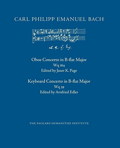 Concerto in B-flat Major, Wq 164 and Wq 39 (CPEB:CW Offprints, Band 27)