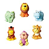 wooden animals to paint - Hilou Paint Your Own Animal Figurines (Elephant, hippopotamus, lion, tiger and monkey)