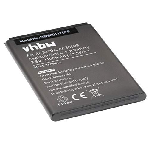 vhbw batteria compatibile con Archos 45 Neon smartphone cellulare (3100mAh, 3,8V, Li-Ion)