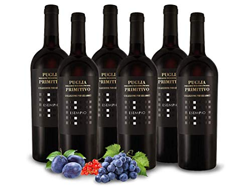 Primitivo ESEMPIO   Vigneti del Salento - Farnese Vini   Italien-Apulien   Vorteilspaket (6x 0,75l) Rotwein-trocken