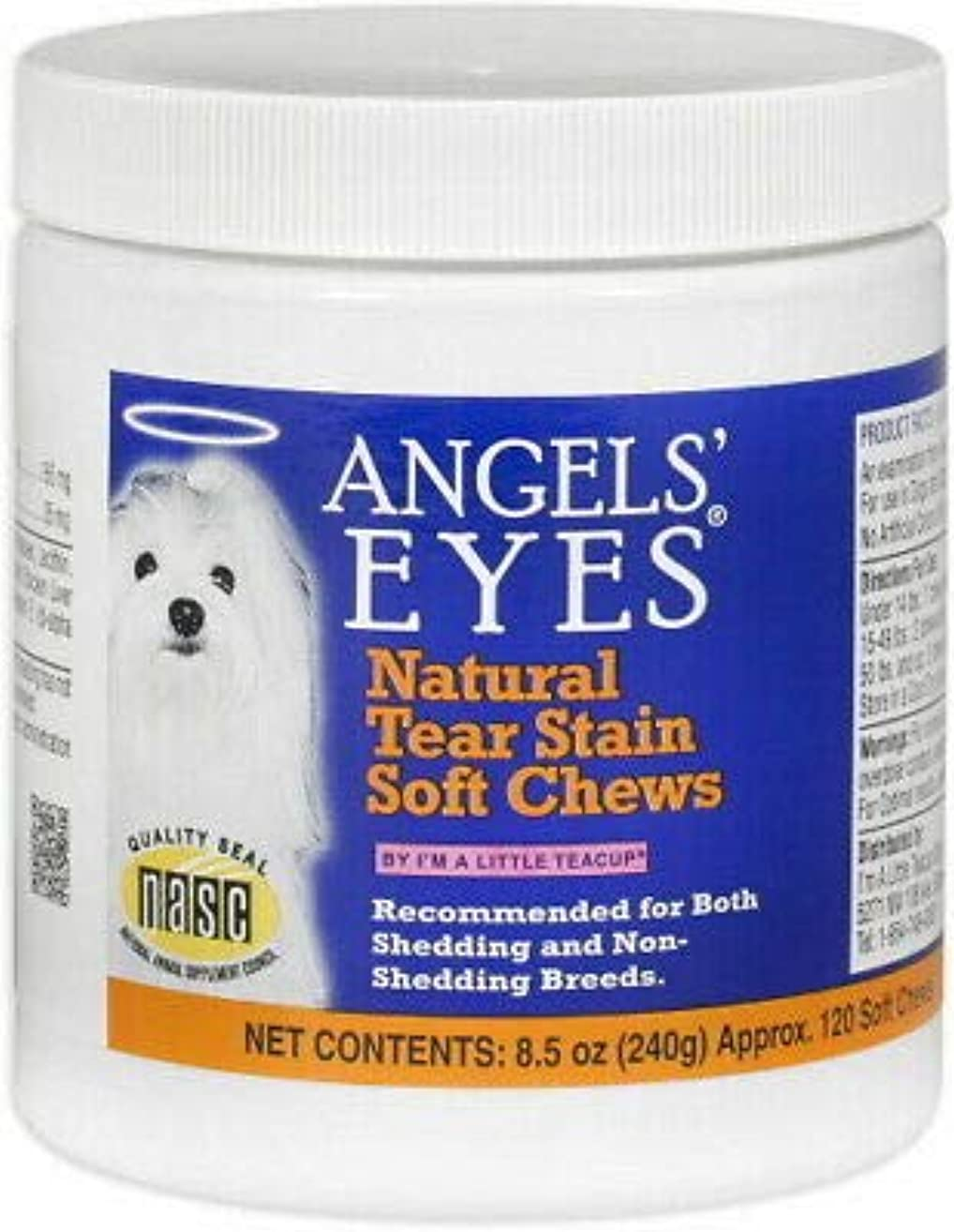 ANGELS' EYES Natural Tear Stain Soft Chews Chicken 120ct