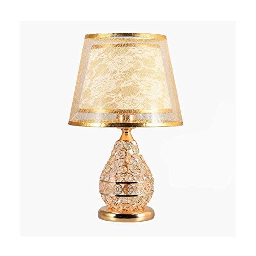 CHENMAO Lámpara de noche lámpara lámparas lámparas de mesa estilo europeo estilo de lujo lámpara de mesa lámpara de noche lámpara de noche múltiples opciones de interruptor (Tamaño: 41x26cm)