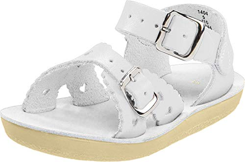 Salt Water Sandals by Hoy Shoe Sweetheart,White,8 M US Toddler